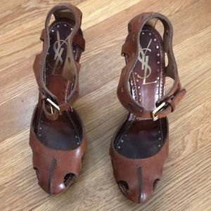 YSL brown heels 8 or 8.5
